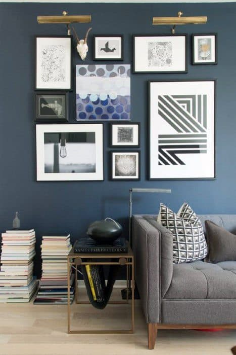 dark wall picture wall ideas