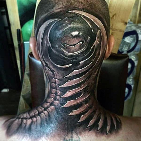 Modern Back Of Head Insane Guys Tattoos
