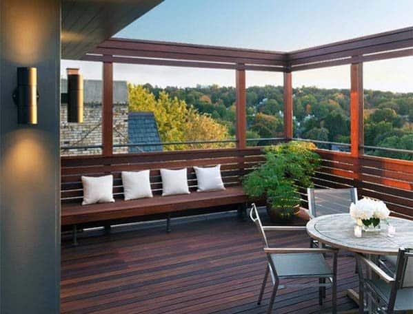 Modern Backyard Deck Bench Design