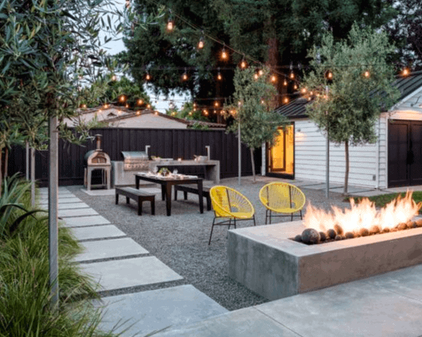 Top 40 Best Gravel Patio Ideas Backyard Designs