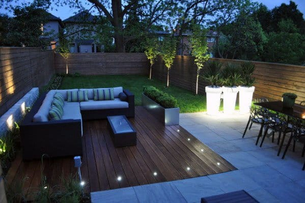 Modern Backyards Ideas For Deck Lighting