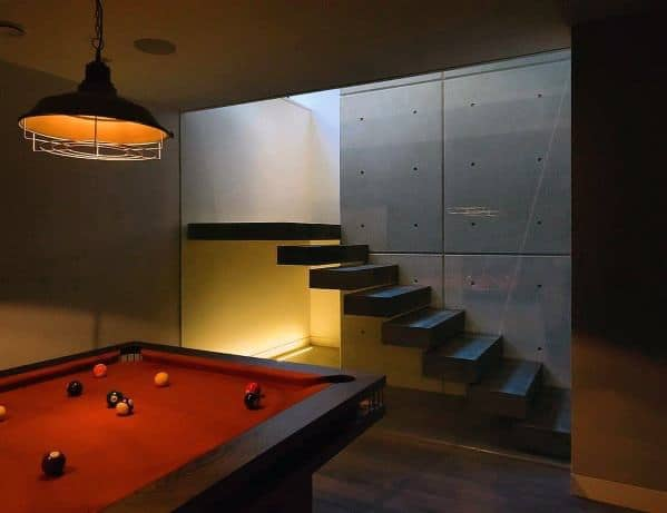 Modern Basement Billiards Room Ideas