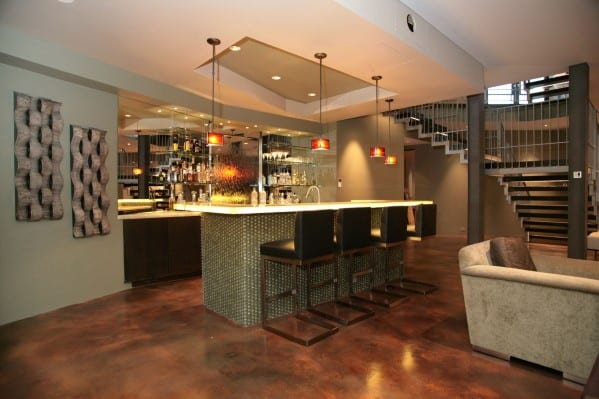 Incroyable Modern Basement Home Bar Design