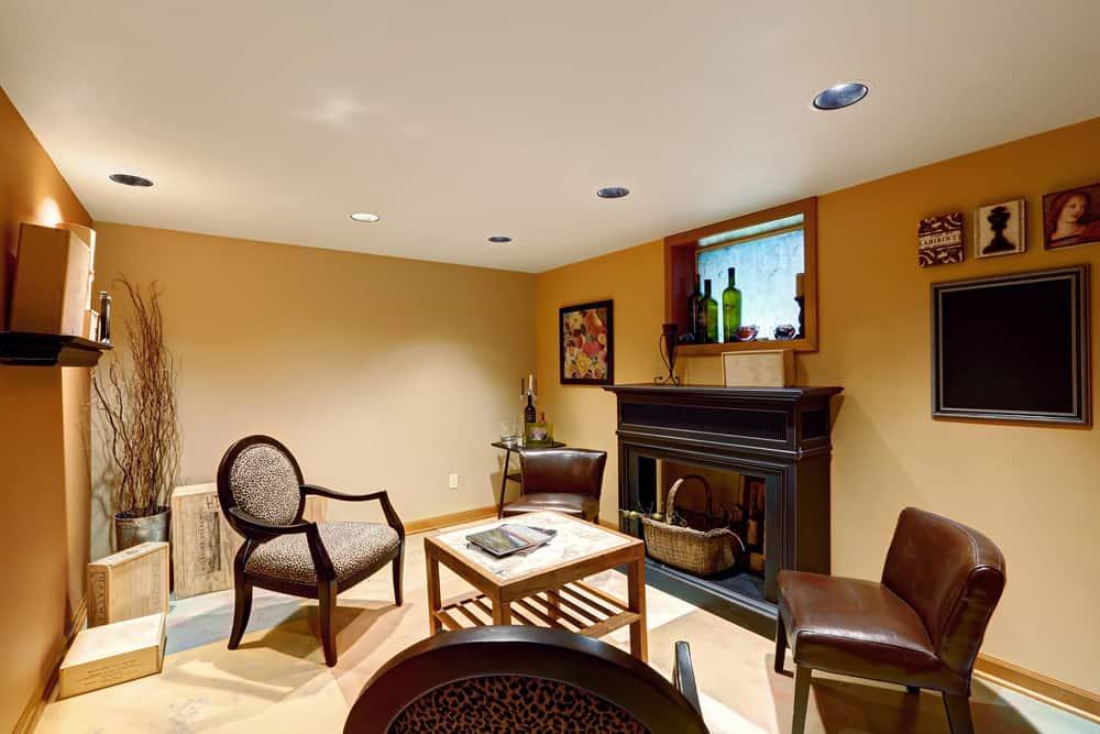 modern basement wall ideas 1