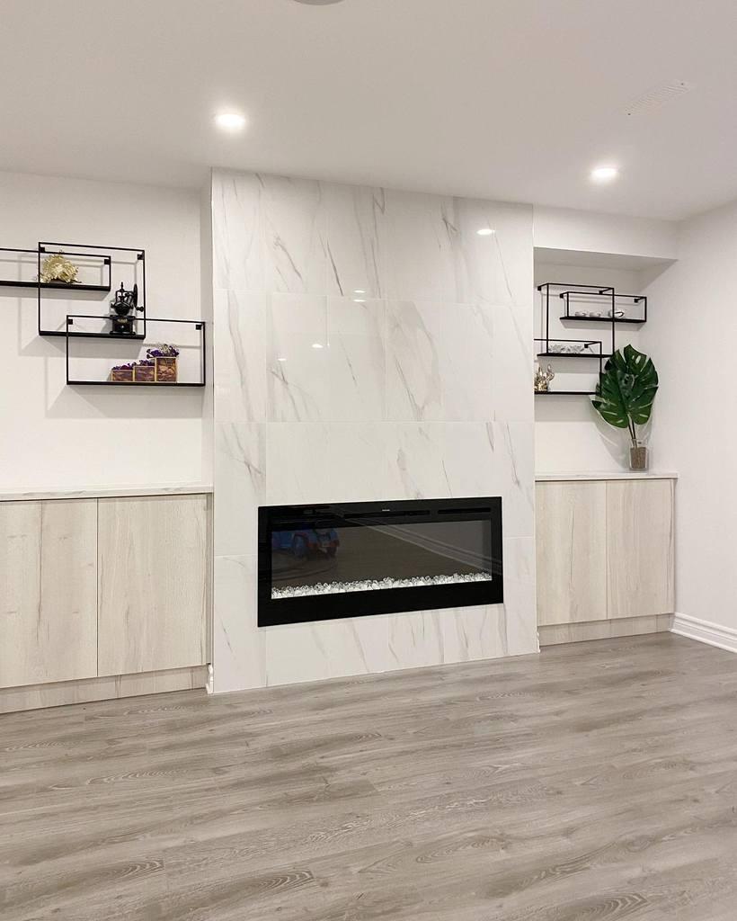 modern basement wall ideas mykitchens_ottawa
