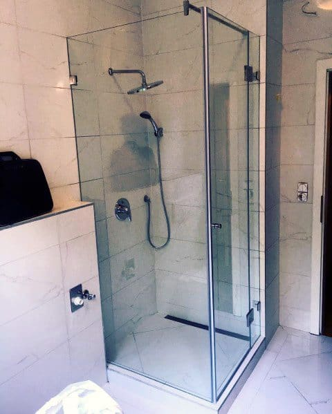 Modern Bathroom Corner Shower Ideas