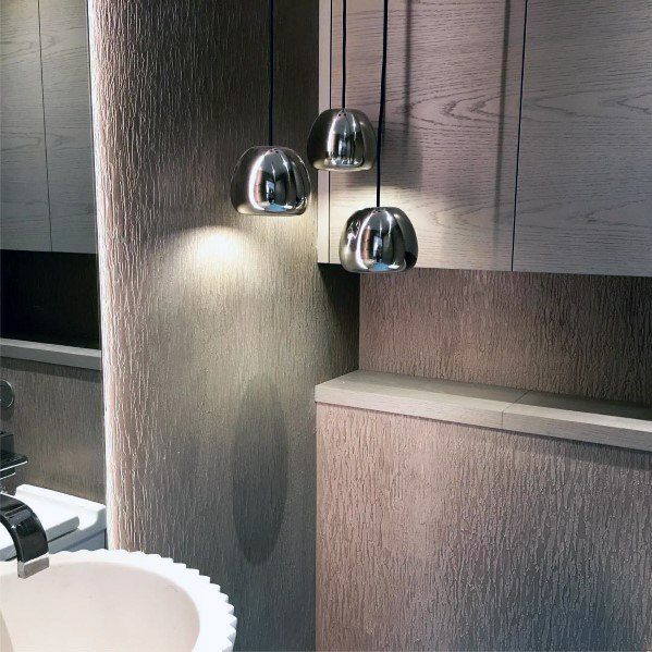 Modern Bathroom Excellent Interior Ideas Textured Wall