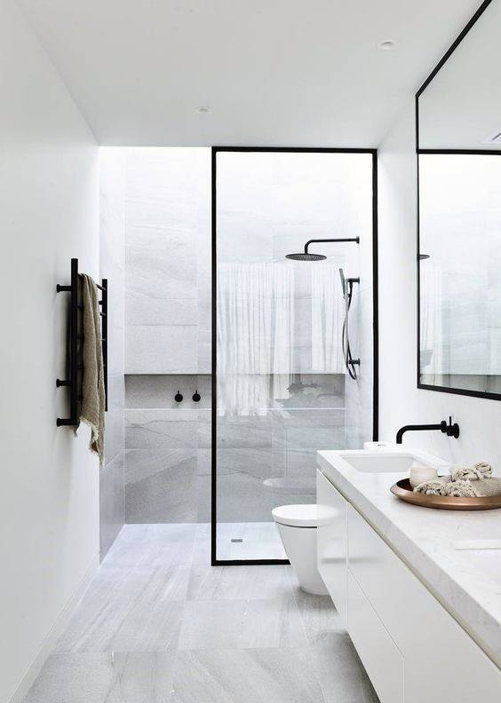 Modern Bathroom Shower Design White