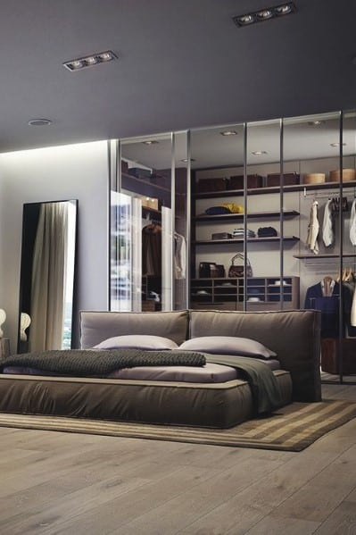 20 Masculine Men\'s Bedroom Designs - Next Luxury