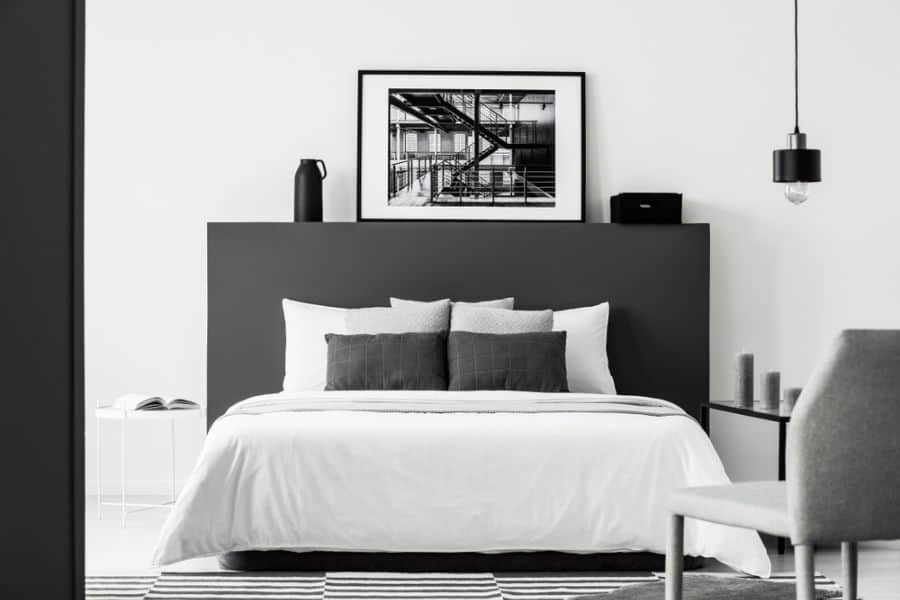 modern black and white bedroom ideas 2