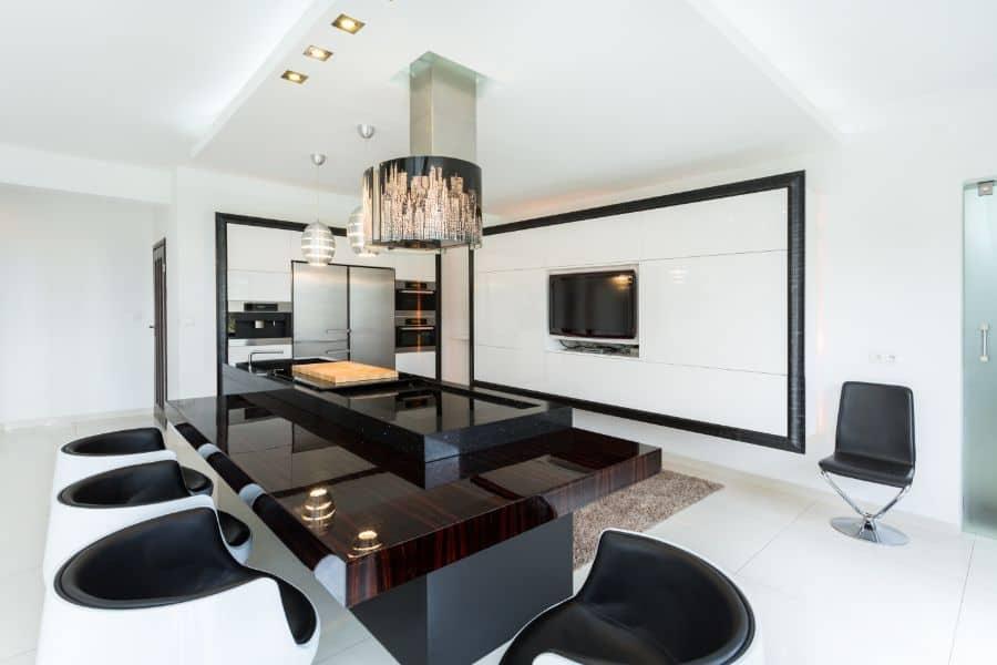 Modern Black And White Kitchen 11