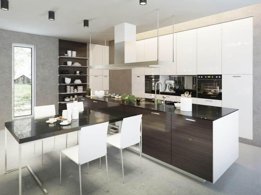Modern Black And White Kitchen 3