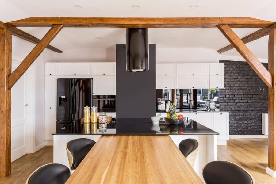 Modern Black And White Kitchen 6