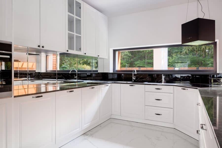 Modern Black And White Kitchen 7