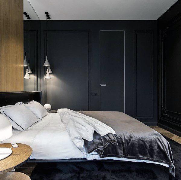 Modern Black Bedroom Design Ideas