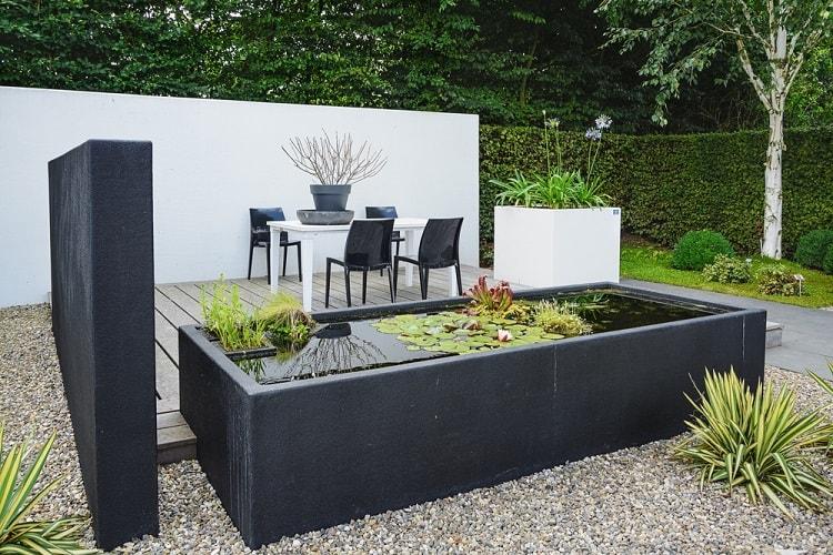 Modern Black Garden Furniture Container Pond