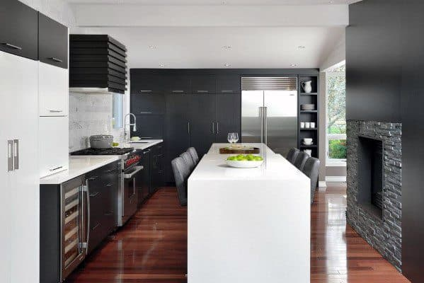 Modern Black Kitchen Cabinet Home Ideas