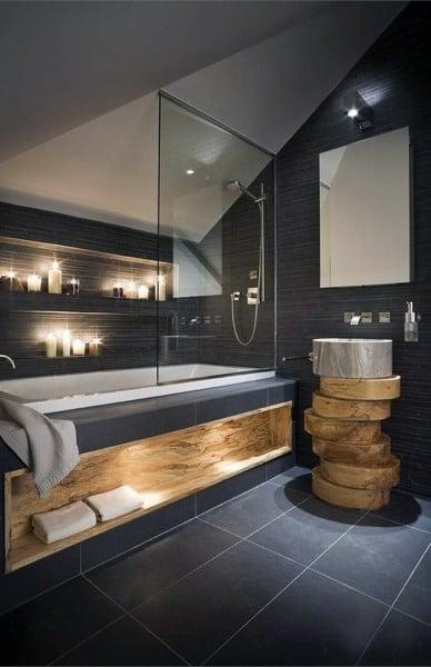 Modern Black Rustic Bathroom Ideas