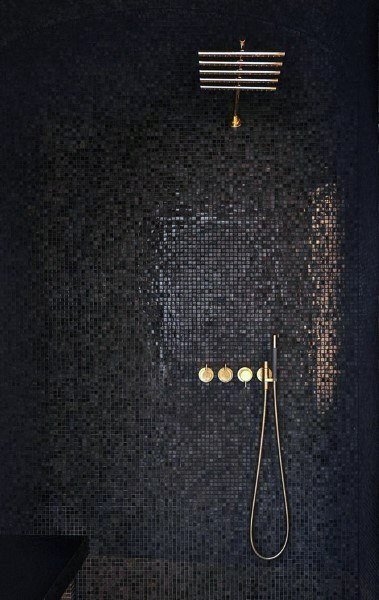 Modern Black Shower Tile Ideas