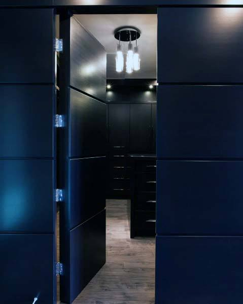 Modern Black Wall Hidden Door Ideas