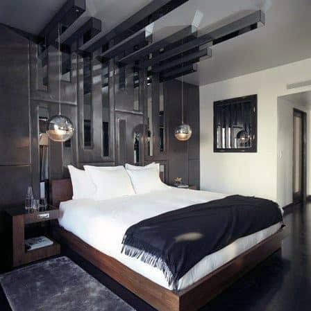 Modern Chrome Glass Ball Pendant Ideas For Bedroom Lighting