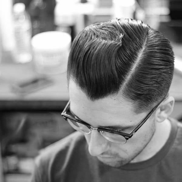 Modern Comb Over Hairstyle For Men