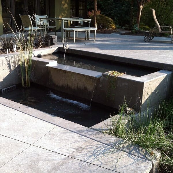 Modern Concrete Small Pond Design Ideas