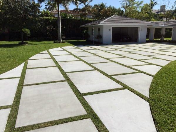 Top 50 Best Concrete Driveway Ideas Front Yard Exterior Designs