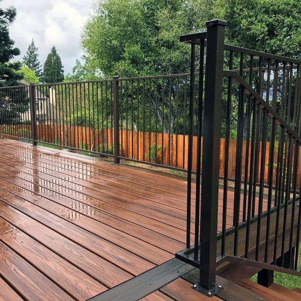 Top 50 Best Metal Deck Railing Ideas - Backyard Designs