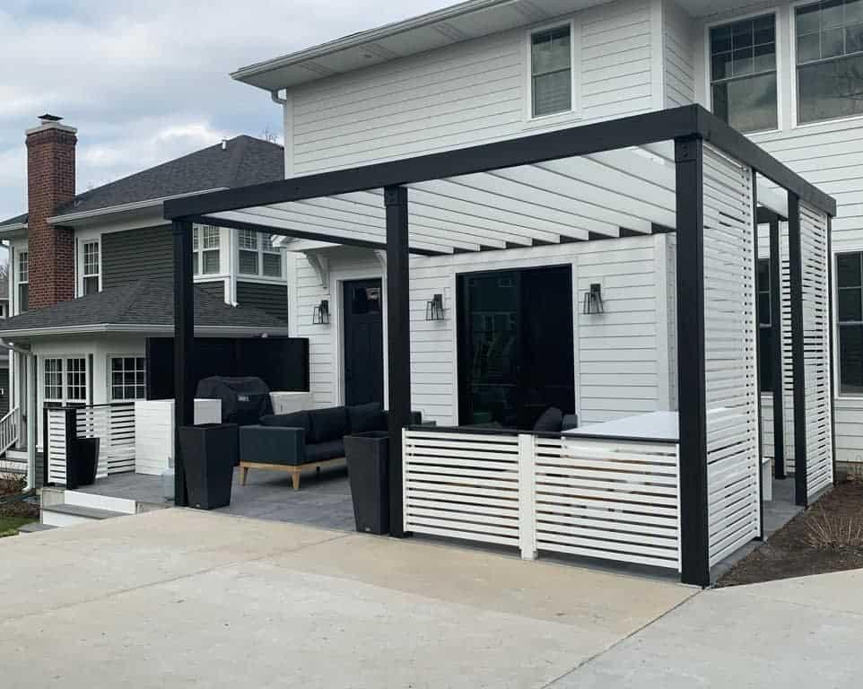 modern covered patio ideas tweakedstyle