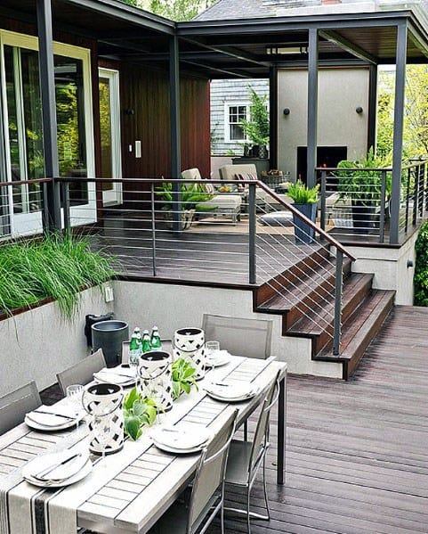 Top 50 Best Modern Deck Ideas - Contemporary Backyard Designs on Small Back Deck Decorating Ideas id=55069