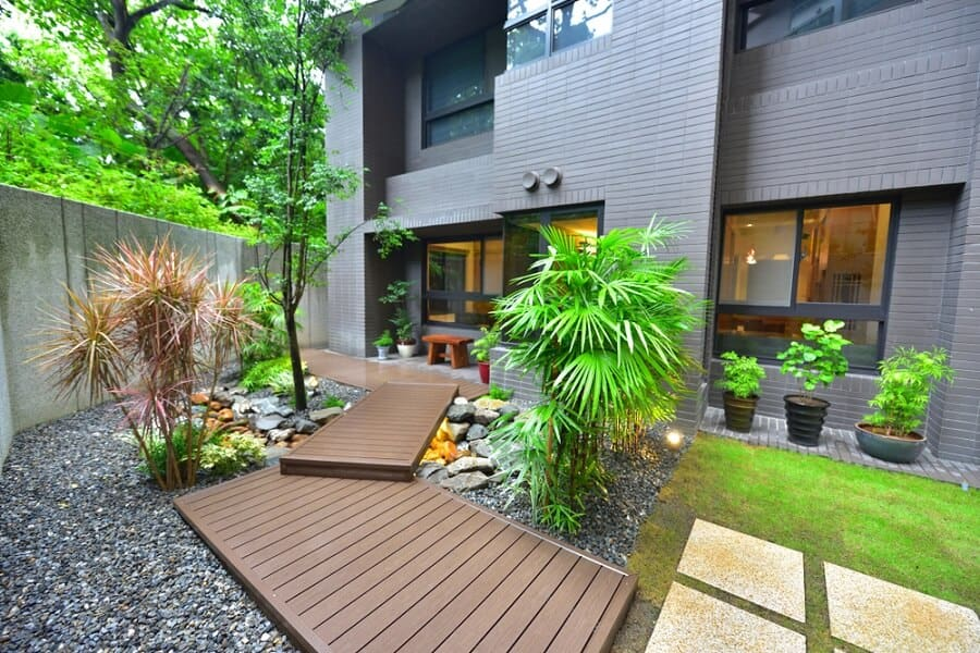 Modern Deck Home Entrance Ideas Wooden Walkway