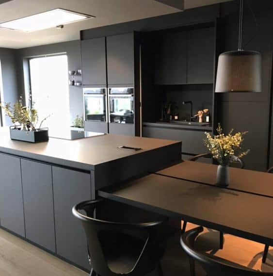 Modern Designs Black Kitchen Cabinet Idea Inspiration