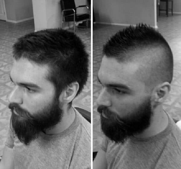 Modern Fade Faux Hawk Hair For Guys