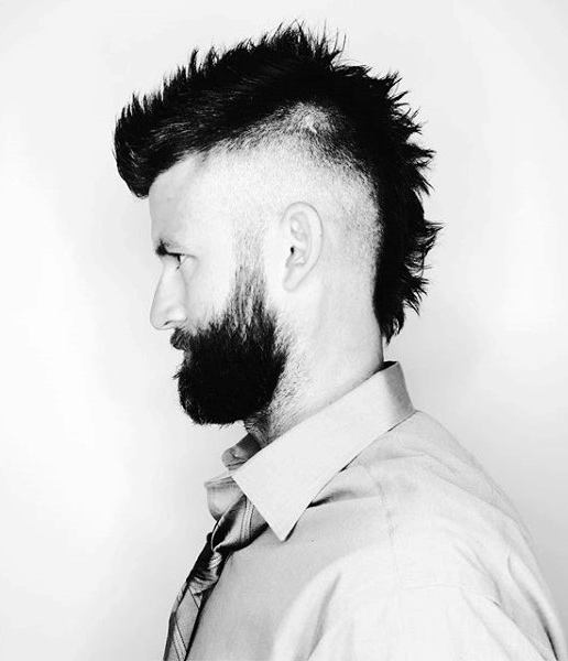 Modern Faux Hawk Mohawk Fade Haircut For Men