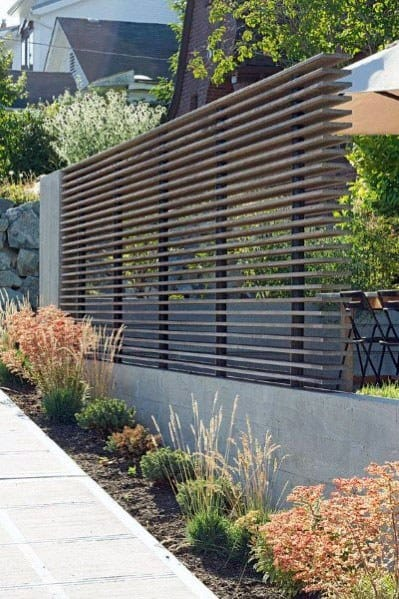 Modern Fence Cool Exterior Ideas