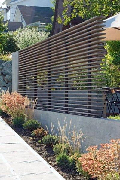 Modern Fence Cool Exterior Ideas
