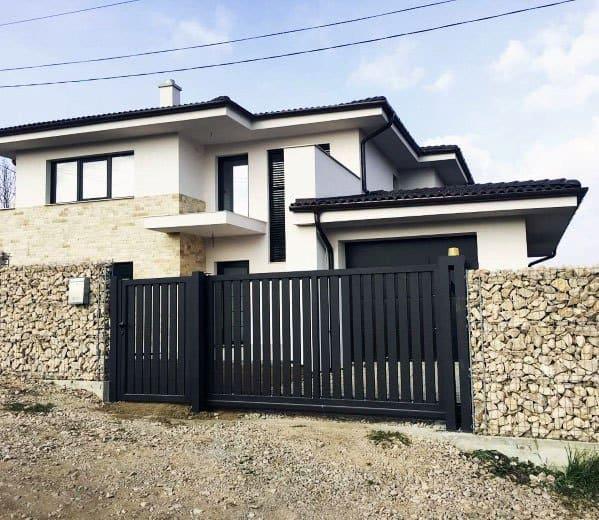 Modern Fence Driveway Gate Design Ideas