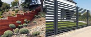 Top 60 Best Modern Fence Ideas – Contemporary Outdoor Designs