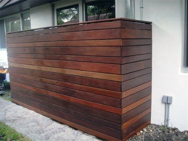 Modern Fence Pool Equipment Enclosure Ideas