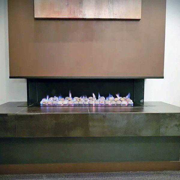 Modern Fireplace Design Concrete Ledge
