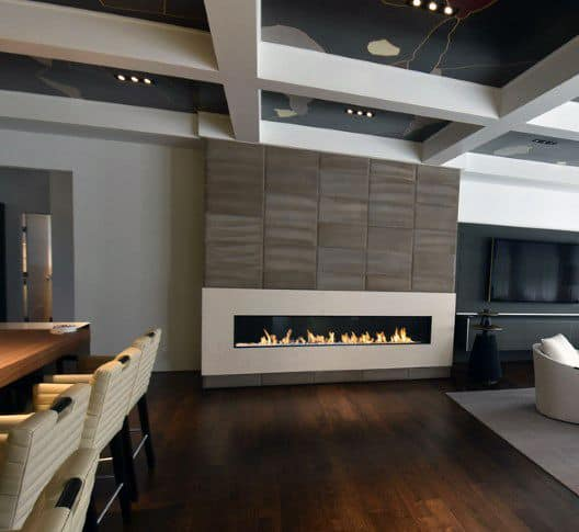 Modern Fireplace Design Living Room With Bar