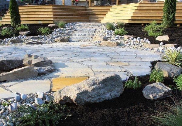 Modern Flagstone Patio Backyard Ideas