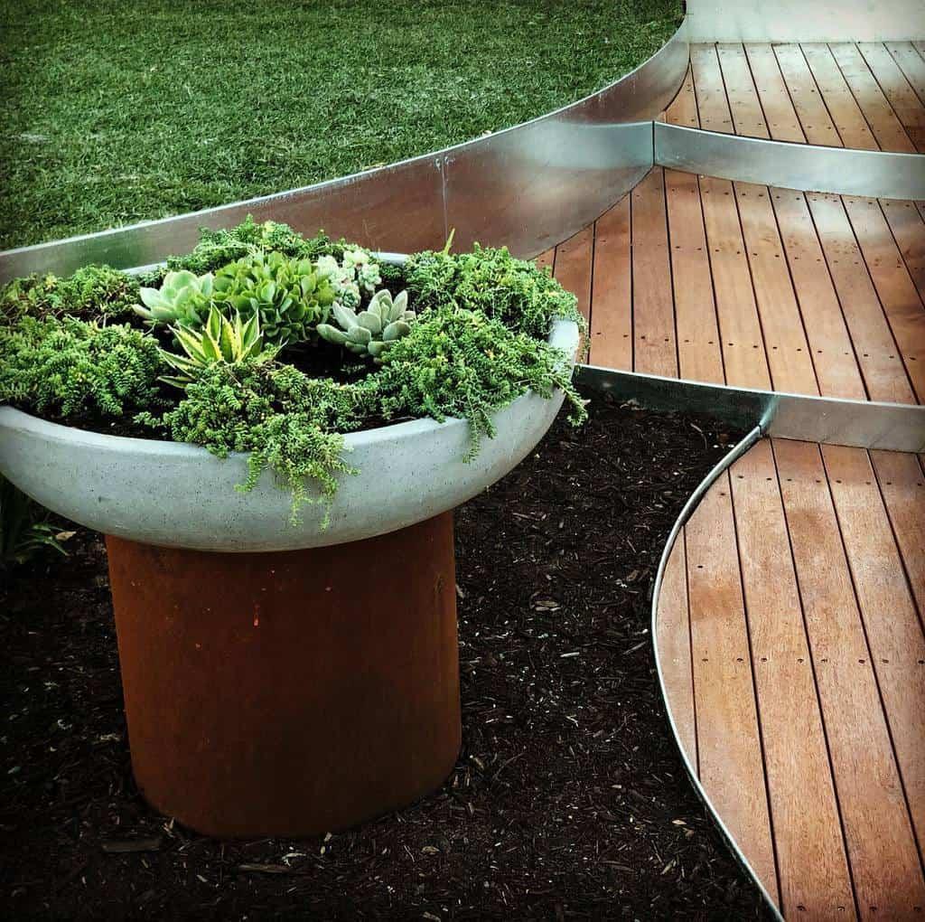 modern garden edging ideas greenearthenterpriseswa