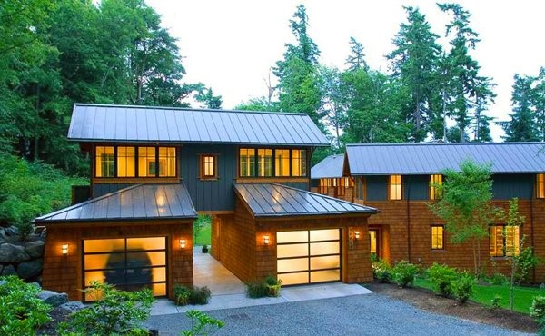 Modern Glass Door Detached Garage Ideas