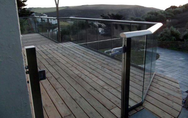 Modern Glass Panel Deck Gate Spectacular Ideas