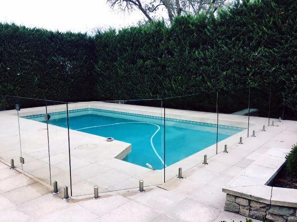 Modern Glass Panels Ideas For Home Pool Fence