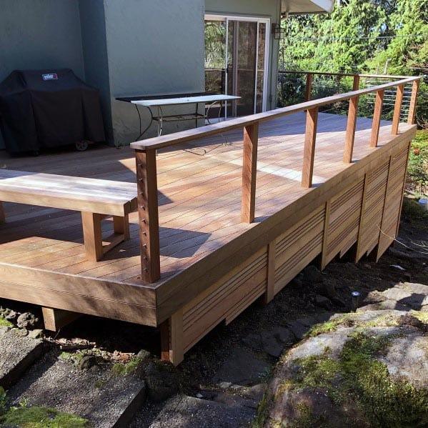 Modern Good Ideas For Deck Skirting