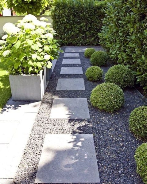 Modern Gravel Design Ideas For Stepping Stone