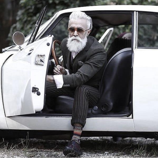 Modern Grey Beard Style Ideas For Guys